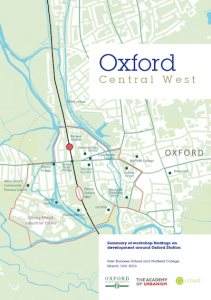 Oxford Central West report, May 2016
