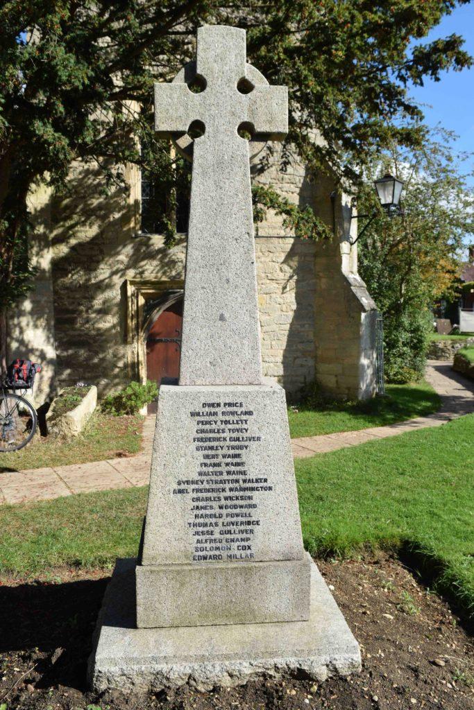 Wolvercote war memorial