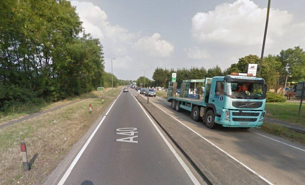 A40 by Eynsham roundabout
