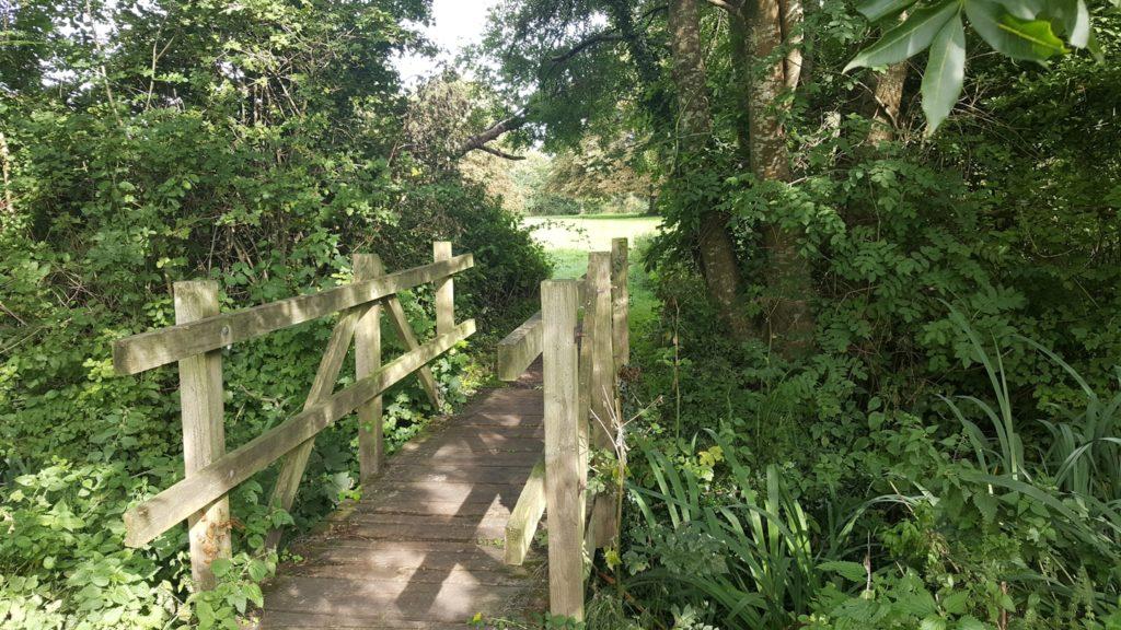 Dunstan Park, Headington. Bridge over spring-fed stream