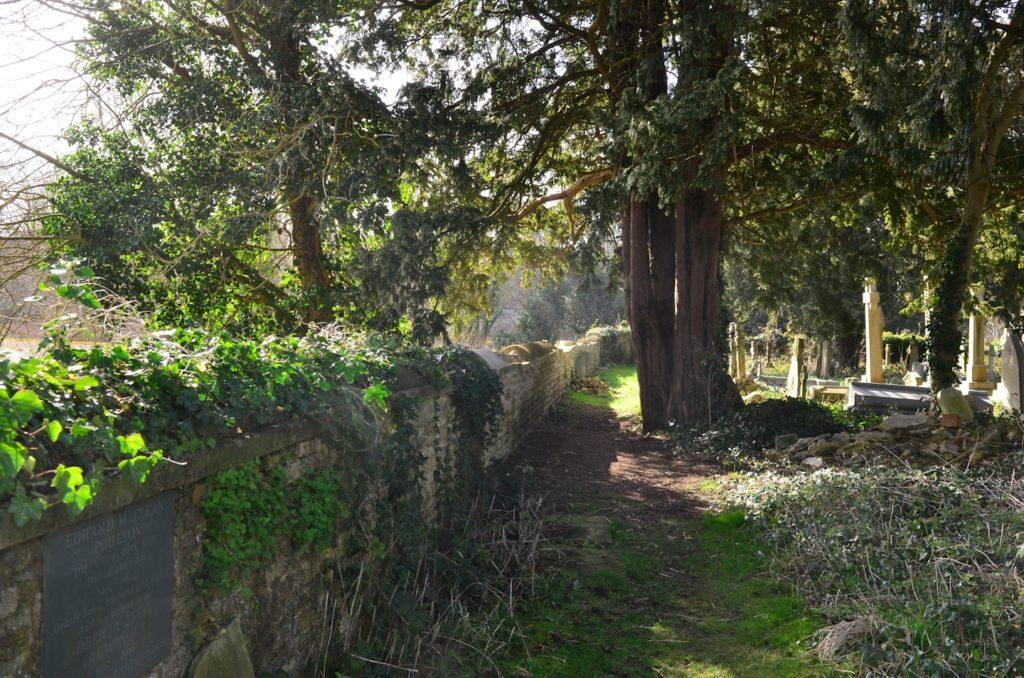 Holywell Cemetery boundary wall