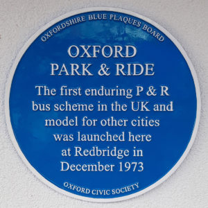 Oxford Park and Ride blue plaque
