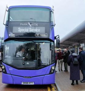 Special Park & Ride bus