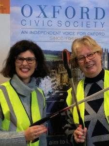 Layla Moran, LibDem PPC for Oxford West & Abingdon and Oxclean Co-ordinator Natasha Robinson at North Oxford Eco-fair 23/11/2019
