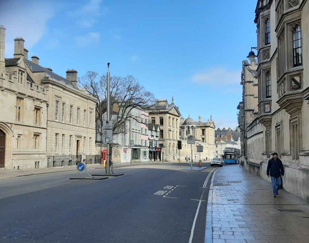 Oxford High Street under lockdown 2020