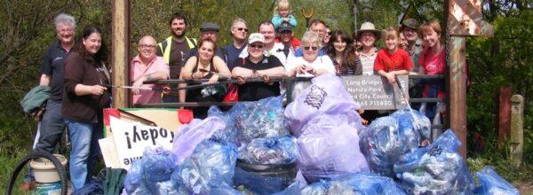 Happy litter collectors