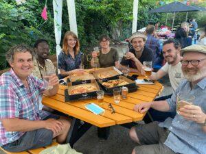 Eating and drinking at Tap Social