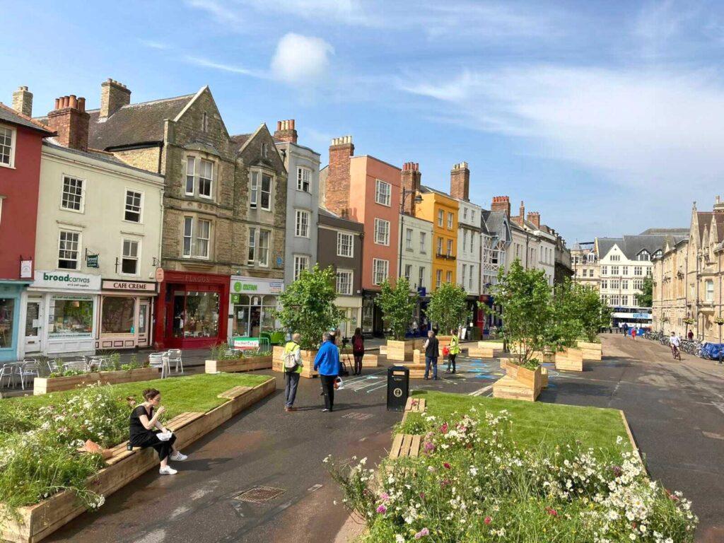 Broad Street Oxford transformed into Briad Meadow